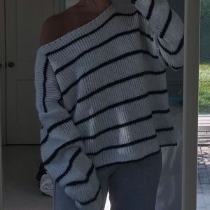 Forever 21 Oversized Striped Sweater Small